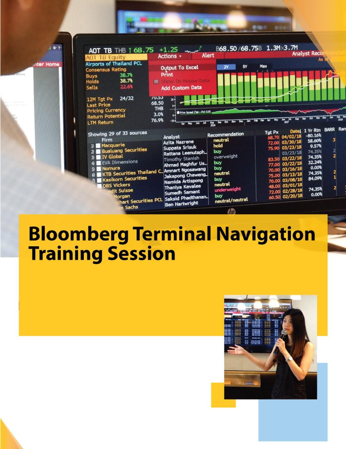 Bloomberg Terminal Navigation Training Session Stamford